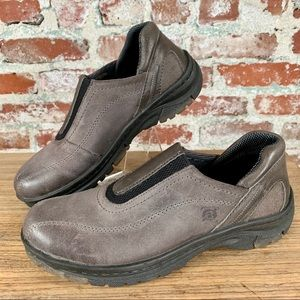 NEW Born Gray and Black Slip on Leather Loafer Sz8